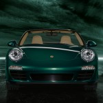 2011 Green Porsche 911 Carrera S Cabriolet Wallpaper Front view