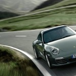 2011 Green Porsche 911 Targa 4 Wallpaper Front angle view