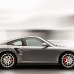 2011 Grey Porsche 911 Turbo Wallpaper Side view