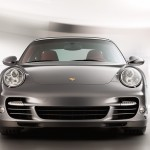 2011 Grey Porsche 911 Turbo Wallpaper Front view