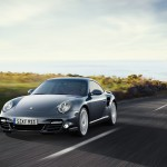 2011 Grey Porsche 911 Turbo Wallpaper Front angle view