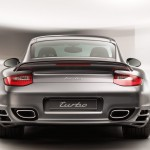 2011 Grey Porsche 911 Turbo Wallpaper Rear view