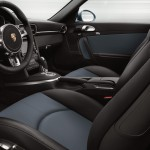2011 Ice Blue Porsche 911 Turbo S Wallpaper Interior