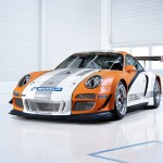 2011 Orange Porsche 911 GT3 R Hybrid Wallpaper Front angle view
