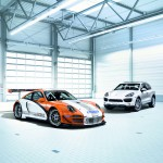 2011 Orange Porsche 911 GT3 R Hybrid Wallpaper Side front angle view