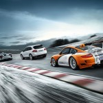 2011 Orange Porsche 911 GT3 R Hybrid Wallpaper Rear angle side view