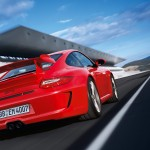 2011 Red Porsche 911 GT3 Wallpaper Rear angle view
