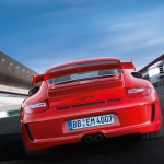 2011 Red Porsche 911 GT3 Wallpaper Rear view