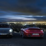 2011 Red Porsche 911 Turbo Cabriolet Wallpaper Rear view