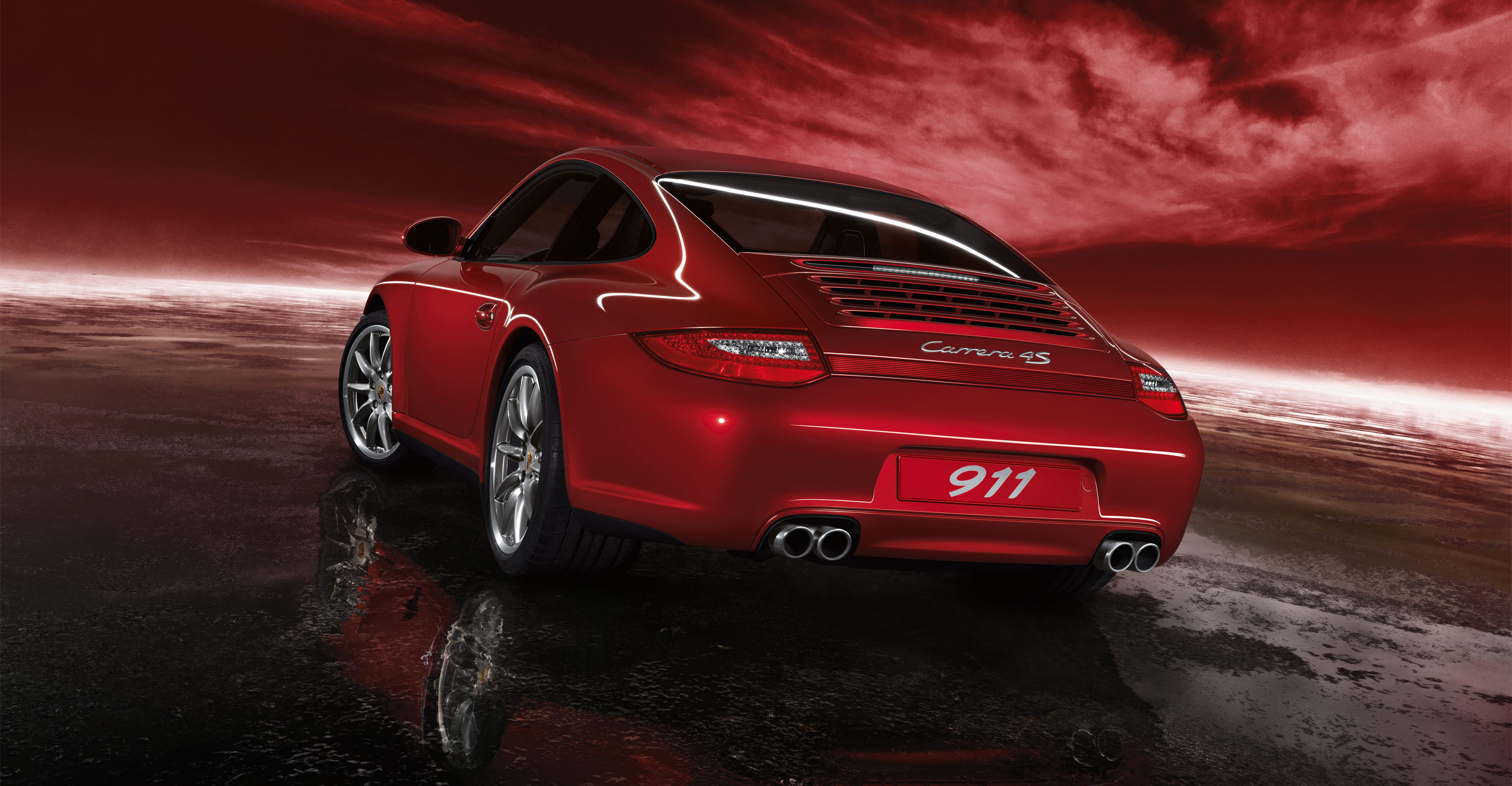 2011 red porsche 911 carrera 4s wallpapers