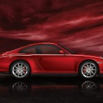 2011 Red Porsche 911 carrera 4S Wallpaper Side view