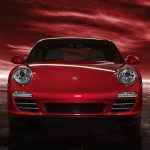 2011 Red Porsche 911 carrera 4S Wallpaper Front view