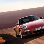 2011 Red Porsche 911 carrera 4S Wallpaper Front angle view