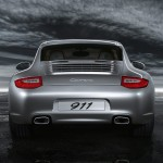 2011 Silver Porsche 911 Carrera Wallpaper Rear view