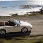2011 White Porsche 911 Carrera Cabriolet Wallpaper Side top view
