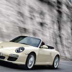 2011 White Porsche 911 Carrera Cabriolet Wallpaper Front angle side view