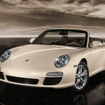 2011 White Porsche 911 Carrera Cabriolet Wallpaper Front angle view