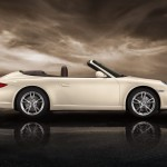 2011 White Porsche 911 Carrera Cabriolet Wallpaper Side view