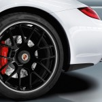 2011 White Porsche 911 Carrera GTS Cabriolet Wallpaper Side view Wheel