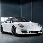 2011 White Porsche 911 Carrera GTS Wallpaper Front angle view