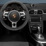 2011 White Porsche 911 Carrera GTS Wallpaper Interior Steering wheel