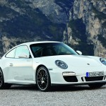 2011 White Porsche 911 Carrera GTS Wallpaper Front angle side view