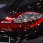 2011 black Porsche Panamera Turbo S at New York Autoshow Rear light