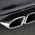 2011 black Porsche Panamera Turbo S at New York Autoshow Exhaust