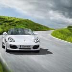 2011 Carrara White Porsche Boxster Spyder wallpaper Front view