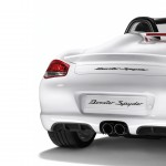 2011 Carrara White Porsche Boxster Spyder wallpaper Rear view