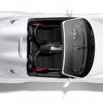 2011 Carrara White Porsche Boxster Spyder wallpaper Top view