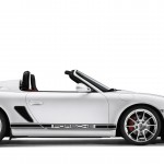 2011 Carrara White Porsche Boxster Spyder wallpaper Side view