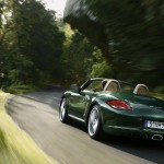 2011 Porsche Racing Green Metallic Boxster Rear angle view