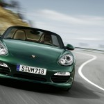 2011 Porsche Racing Green Metallic Boxster Front view