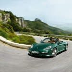 2011 Porsche Racing Green Metallic Boxster Front angle side view