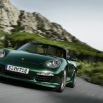 2011 Porsche Racing Green Metallic Boxster Front angle view