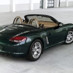 2011 Porsche Racing Green Metallic Boxster Rear angle side view