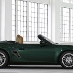 2011 Porsche Racing Green Metallic Boxster Side view