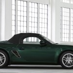 2011 Porsche Racing Green Metallic Boxster Side view Roof on