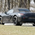 2012 Porsche 981 Boxster Spy shots Rear angle view