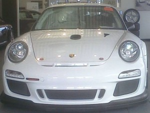 Bellet Racing 2011 white Porsche 911 GT3 Cup Car