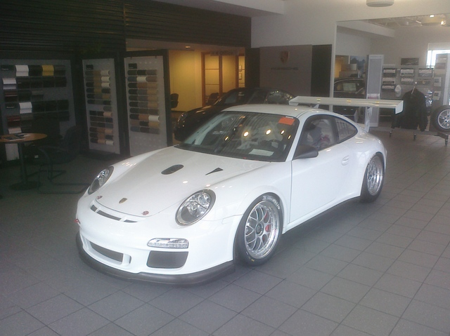 the 2011 gt3 cup car at roger jobs porsche april 9th for a one day open house. Black Bedroom Furniture Sets. Home Design Ideas