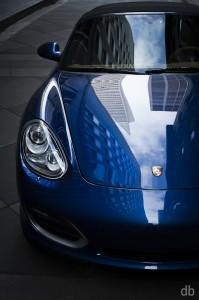 Blue 2011 Porsche Boxster Spyder Front view