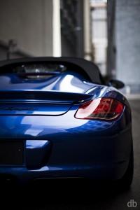 Blue 2011 Porsche Boxster Spyder Rear corner