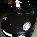 Nicklas Bendtner's Black Porsche 911 Turbo Front angle view
