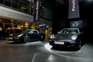 Porsche 911 and Porsche Boxster Black Edistion in Moscow