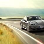 Topaz brown Metallic 2011 Porsche Panamera Turbo S Front angle view