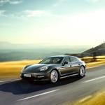 Topaz brown Metallic 2011 Porsche Panamera Turbo S Sid eangle view