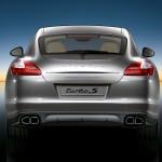 Topaz brown Metallic 2011 Porsche Panamera Turbo S Rear view
