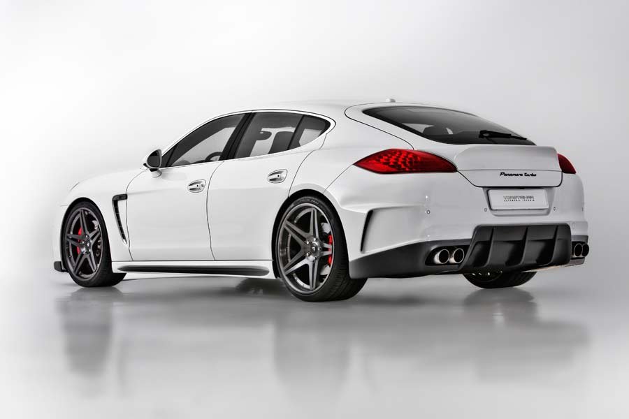 V-PT Edition Porsche Panamera by Vorsteiner Tuning Rear angle side view